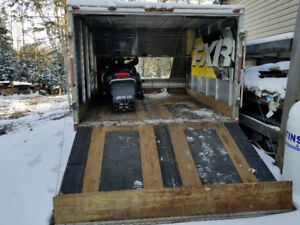 North Trail Enclosed (two sled) Trailer