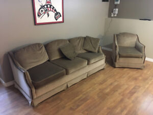 Attractive couch and easy chair for sale.  Very well made.