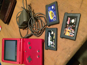 Game boy advance sp with games! Cambridge Kitchener Area image 1
