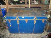 1960's-70's Massive Metal Trunk