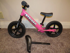 Pink Strider Sport 12 Bike with Bonus Padded XL Seat!