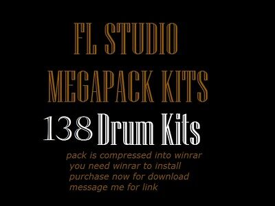Fl Studio RAP DRUM KITS, Samples over 3 gigs of sounds and Kits