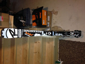 Kids skis and boots
