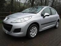 11/11 PEUGEOT 207 1.4 S 5DR HATCH IN MET SILVER WITH ONLY 13,000 MILES