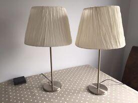 Pair of ikea lamps