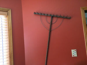 Antique wood rake