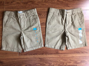 New with tags, size 5 boys shorts, both for $15