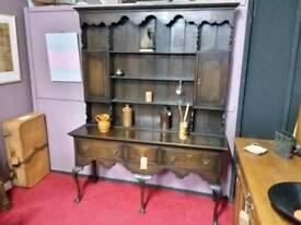 Stunning Jacobean Style Oak Dresser - Can Deliver For £19