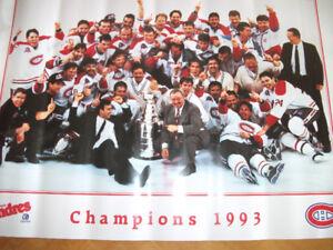 2 Posters Quaker 1992-93 Coupe Stanley des Canadiens (Y166)
