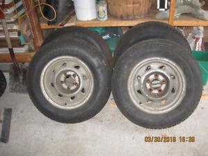 4 Snow Tires on Steel Rims
