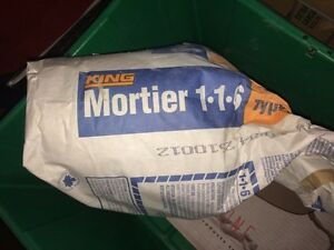 Restant de mortier à joint KING 1-1-6 (30 lb)