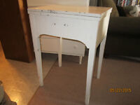White Wood Sewing Machine Table For Sale