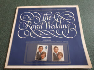 The Royal Wedding Charles and Diana book with stamps