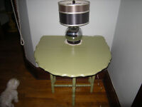 """Antique """"Mint Green"""" table (painted)"""