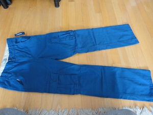 Boy's Old Navy orange cargo pants bottoms Size XL 14 NWT