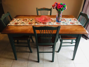 Moving Sale - Rustic Dining Table Plus 4 Chairs