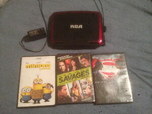 RCA portable DVD player 3 dvds