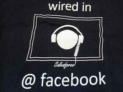 Facebook Employee T Shirt Blue Logo Salesforce Wired Sm Small Campus Jobs Career