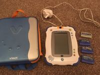 Vtech in inotab 2 console with 4 games