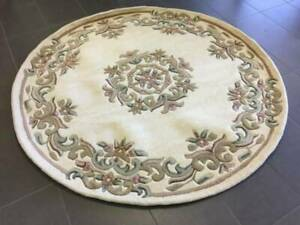 Hand Tufted WOOL Classic design Floor Rug 120 Circle