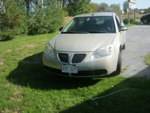 2009 Pontiac G6 Gray cloth Sedan