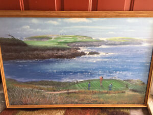 Gift for the Golfer....Oil Painting