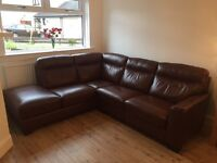 Sofology Fairlie leather sofa - as new