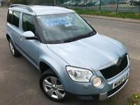 SKODA YETI 2.0TDI CR SE 140 DIESEL 4X4 1 OWNER FSH £39 WEEK 6 SPEED CRUISE 2010