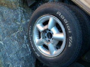 2 Ram truck rims with tires