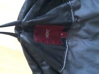 Women's leather jacket.