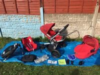 Quinny Buzz 3 Full Kit in Strawberry Red Weekend Price £259