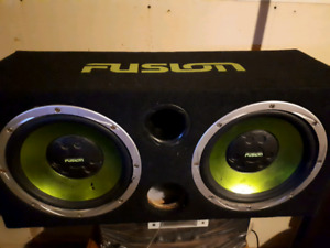 Fusion sub and amps