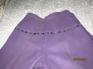 Yves St. Laurent Suede Pants  Fits 6-8 or even 10