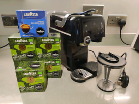 AEG Lavazza a Modo Mio Magia pod espresso coffee machine black chrome