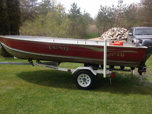2001 Lund SSV-16 16  15hp Yamaha 4 stroke **Priced to MOVE**