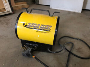 Used Construction Space Heater - 240 Volts