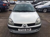 RENAULT CLIO DCI DIESEL + 30 TAX YEARLY + GOOD RUNNER FIRST TIME STARTS LONG MOT