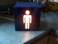 Unique Novelty Lamp....Will Sit on Stand or Mount on Wall Box is