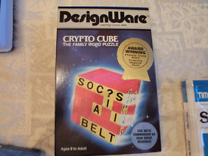 Commodore 64 Crypto Cube Family Word Puzzle