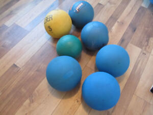 USED Durable Rubber Medicine Balls 7 for SALE