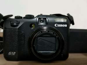 Canon G12 10 MP Digital Camera with Leather Case