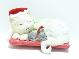 "CHRISTMAS ""CAT & MOUSE"" STOCKING HOLDER - IN BOX/MINT"