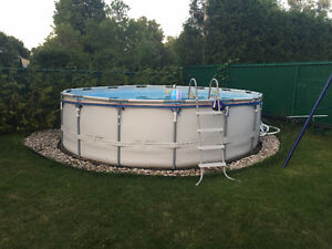 Full above ground pool set