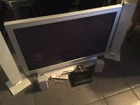 "42"" plasma TV and recordable digital box"