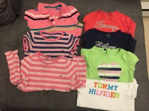 Size 4 Girls brand name Shirts&Dresses-Guess,polo,tommy