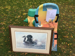 Free - Toboggan  and Framed Picture