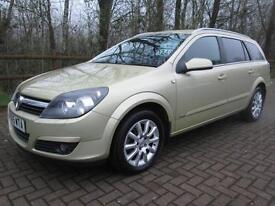 05/05 VAUXHALL ASTRA 1.8 DESIGN ESTATE IN MET GOLD WITH FULL SERVICE HISTORY