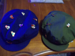 Red Star Army Chinese Military Green Hat & Blue Hat