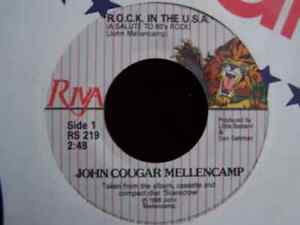 Springstein & Mellencamp 45 Vinyl Records, all 4 for $15 Cambridge Kitchener Area image 5