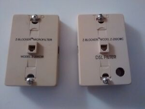 DSL phone line filters (2 of them)